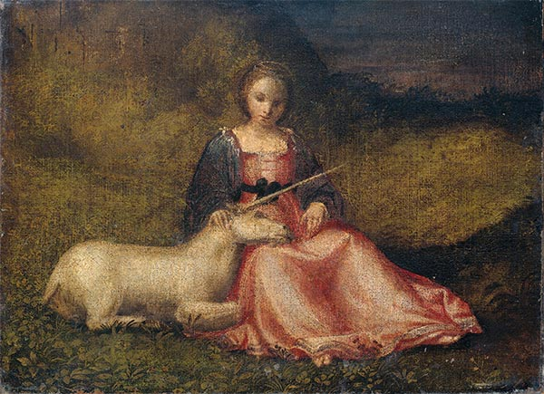 Allegory of Chastity, c.1510 | Giorgione | Painting Reproduction