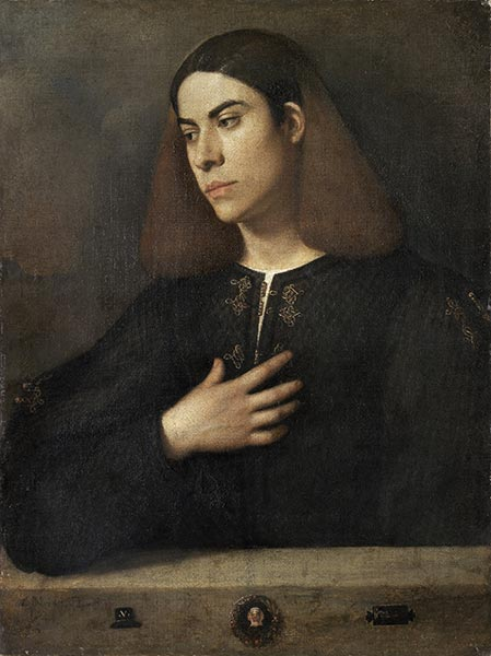 Portrait of a Young Man (The Broccardo Portrait), c.1508/10 | Giorgione | Painting Reproduction