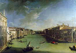 Grand Canal From the Palazzo Balbi, 1724 von Canaletto | Gemälde-Reproduktion