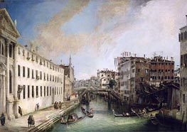 Rio dei Mendicanti | Canaletto | Painting Reproduction