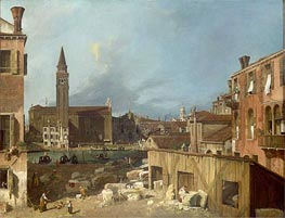 The Stonemason's Yard | Canaletto | Painting Reproduction