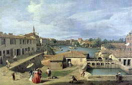 A View of Dolo on the Brenta Canal | Canaletto | Painting Reproduction