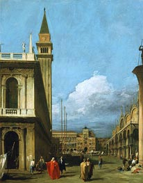 Piazzetta Towards the Torre dell'Orologio | Canaletto | Gemälde Reproduktion