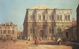 Campo San Rocco, a.1730 by Canaletto | Painting Reproduction