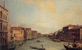 Grand Canal from the Palazzo Balbi, 1735 von Canaletto | Gemälde-Reproduktion