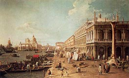 Molo with the Library, Looking Towards the Zecca | Canaletto | Painting Reproduction