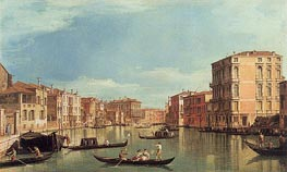Grand Canal Near Palazzo Bembo & Palazzo Vendramin | Canaletto | Painting Reproduction
