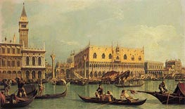 Piazzetta and the Doge's Palace | Canaletto | Painting Reproduction