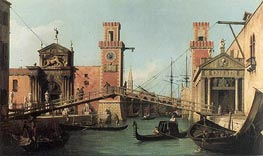 Entrance to the Arsenal, c.1732 von Canaletto | Gemälde-Reproduktion