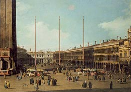 Piazza San Marco, Looking Towards San Geminiano | Canaletto | Painting Reproduction