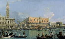 The Doge's Palace with the Piazza di San Marco | Canaletto | Gemälde Reproduktion