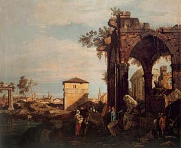 Landscape with Ruins | Canaletto | Painting Reproduction