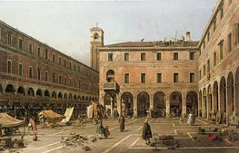 Campo di Rialto | Canaletto | Painting Reproduction
