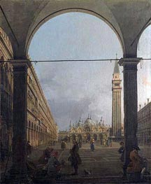 Piazza San Marco, Looking East, c.1756 von Canaletto | Gemälde-Reproduktion
