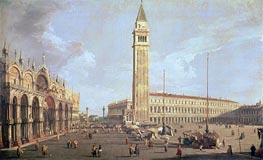 Towards San Marco, undated von Canaletto | Gemälde-Reproduktion