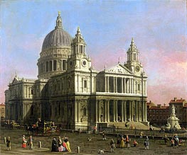 Saint Paul Cathedral, 1754 von Canaletto | Gemälde-Reproduktion