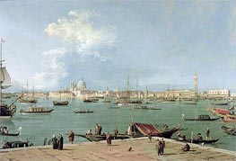 Venice: the Bacino di San Marco from San Giorgio Maggiore, c.1735/44 by Canaletto | Painting Reproduction