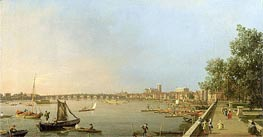 The Thames from the Terrace of Somerset House, looking upstream Towards Westminster and Whitehall | Canaletto | Gemälde Reproduktion