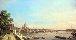 The Thames from the Terrace of Somerset House Looking Towards St. Paul's, c.1750 von Canaletto | Gemälde-Reproduktion