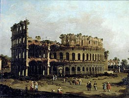 The Colosseum, undated by Canaletto | Painting Reproduction