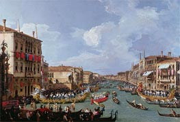 Regatta on the Grand Canal | Canaletto | Painting Reproduction