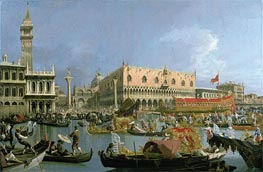 The Bucintoro returning to the Molo | Canaletto | Painting Reproduction