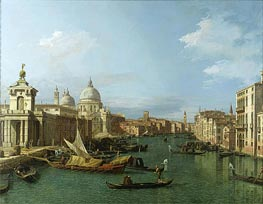 Entrance to the Grand Canal: Looking West | Canaletto | Painting Reproduction