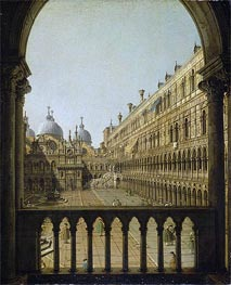 Interior Court of the Doge's Palace, Venice | Canaletto | Painting Reproduction