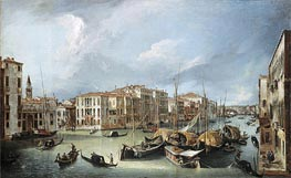 Grand Canal in Venice with the Rialto Bridge | Canaletto | Painting Reproduction