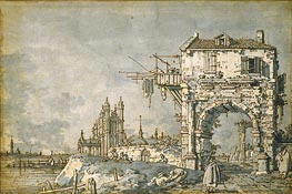 An Imaginary View with a Triumphal Arch | Canaletto | Painting Reproduction
