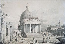 Veduta Ideata with San Simone Piccolo | Canaletto | Painting Reproduction