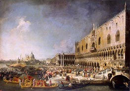 Reception of the French Ambassador in Venice, c.1726/27 by Canaletto | Painting Reproduction