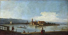 View of the Isles of San Michele, San Cristoforo and Murano from the Foundamenta Nuove, c.1725/28 by Canaletto | Painting Reproduction