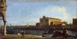 View of Church of San Giovanni dei Battuti on the Isle of Murano, c.1725/28 by Canaletto | Painting Reproduction