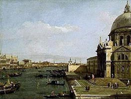 Venice: Entrance to the Grand Canal, Church of Santa Maria della Salute, undated von Canaletto | Gemälde-Reproduktion
