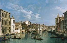 Grand Canal from Palazzo Flangini to Palazzo Bembo, c.1740 by Canaletto | Painting Reproduction
