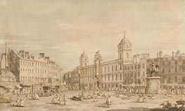 View of Northumberland House and Charing Cross, c.1752 von Canaletto | Gemälde-Reproduktion