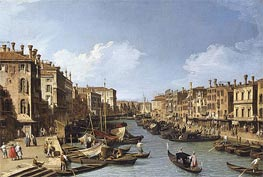 The Grand Canal near the Rialto Bridge, Venice, c.1730 by Canaletto | Painting Reproduction