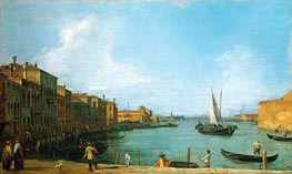 The Canale di Santa Chiara Looking North Towards the Lagoon, c.1723/24 by Canaletto | Painting Reproduction