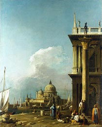 Venice: The Piazzetta towards St. Maria della Salute | Canaletto | Gemälde Reproduktion