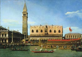 The Bucintoro at the Molo on Ascension Day | Canaletto | Painting Reproduction