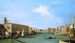 The Grand Canal Looking North-West from near the Rialto | Canaletto | Painting Reproduction