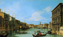 The Grand Canal Looking West from Palazzo Vendramin-Calergi towards San Geremia | Canaletto | Painting Reproduction