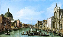 The Grand Canal Looking West with the Scalzi and San Simeon Piccolo | Canaletto | Painting Reproduction