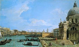 The Grand Canal Looking towards the Riva degli Schiavoni, c.1729/30 by Canaletto | Painting Reproduction