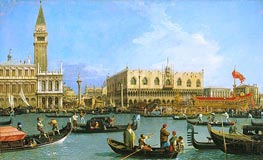 The Bacino di San Marco on Ascension Day, c.1733/34 by Canaletto | Painting Reproduction