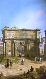 Rome: The Arch of Septimus Severus | Canaletto | Painting Reproduction