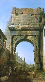 Rome: The Arch of Titus | Canaletto | Painting Reproduction