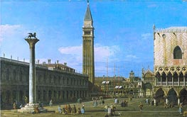 Venice: The Piazzetta towards the Torre dell'Orologio | Canaletto | Painting Reproduction
