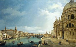 The Grand Canal with St. Maria della Salute towards the Riva degli Schiavoni | Canaletto | Painting Reproduction